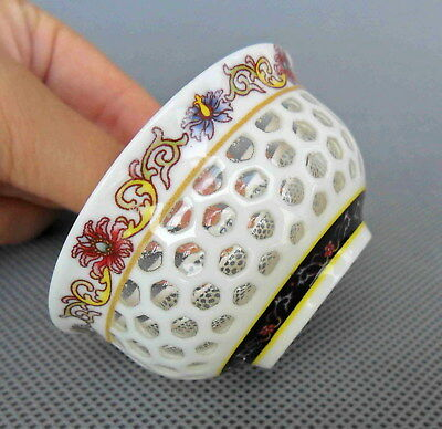 Handwork Decoration Porcelain Hollow Out Flower Cup Usable Unique Craft Chinese