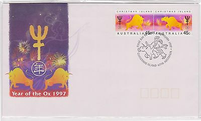 (K42-270) 1997 Christmas Island FDC 90c year of the Ox (L)