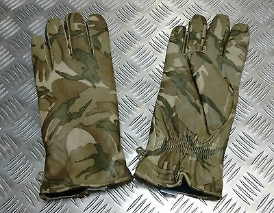 Genuine British Military MTP Camo Leather Combat Gloves MK2 MVP  All Sizes - NEW