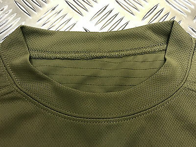Genuine British Military Mesh T-Shirt Anti Static Self Wicking Olive Green - NEW