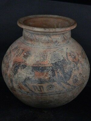 Ancient Huge Size Teracotta Painted Pot With Bulls Indus Valley 2500 BC  #Ik458