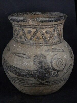 Ancient Large Size Teracotta Painted Pot With Bulls Indus Valley 2500 BC   #Ik45
