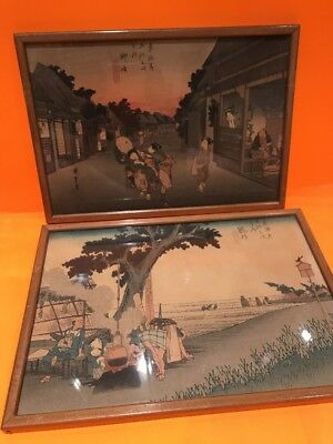Antique Signed Inside Glass frame Chinese Pictures