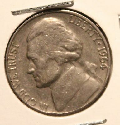 1964 D Jefferson Nickel ( slight Doubling of collumns on Right Side of building