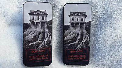 Bon Jovi Guitar Picks Sealed In This House Is Not For Sale Tin-1-Of-A Kind!