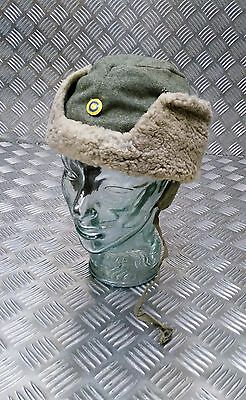 Genuine Swedish WWII World War 2 Arctic Wool And Sheepskin Cold Weather Hat