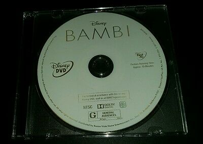 Brand New 2017 Walt Disney Signature Collection Bambi Movie Dvd Disc Only