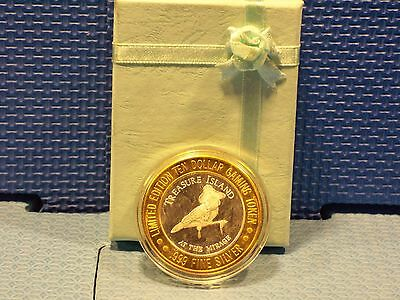"""Treasure Island""  Limited Edition Ten Dollar Gaming Token ""NEW"""