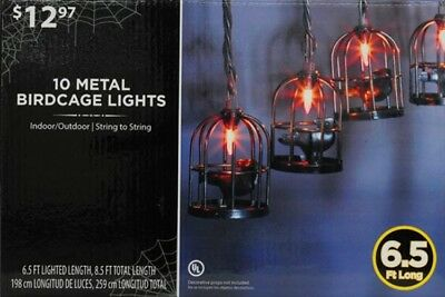 10 Metal Birdcage Creepy Halloween Lights Lanterns Yard Haunted House Decor New