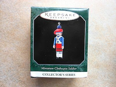 NEW Hallmark 1998 MINIATURE CLOTHESPIN SOLDIER  #4 in Series Keepsake Ornament