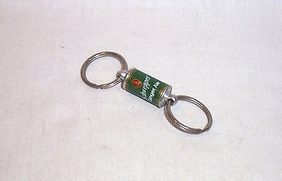"""Vintage Schweppes Ginger Ale Mini 1"""" Soda Pop Can Keychain Advertising"""