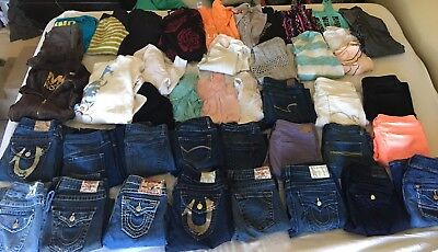 Women's 42 Pc Name Brand Trendy Clothes Lot. True Religion, Michael Kors & More