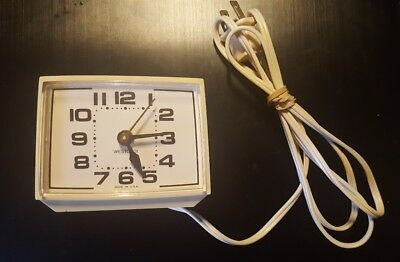 Vintage Westclox Electric Clock With Alarm Made In USA Excellent Condition Works
