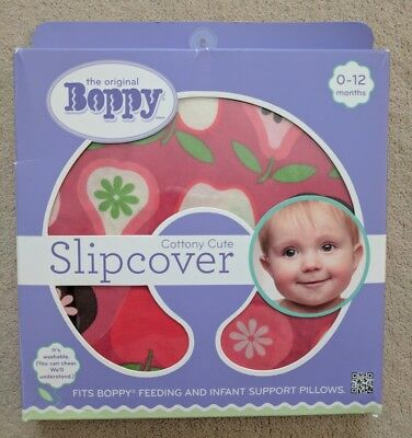 Boppy pillow slipcover Fruit Salad Red Print Used for a few times