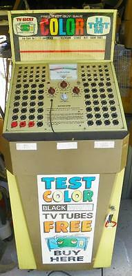 """""""U Test M"""" Vintage Store Tube Tester & 280+ Tubes--check it out!!"""