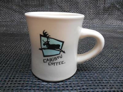 """Old CARIBOU COFFEE CUP Mug Advertising """"THE BOU"""""""