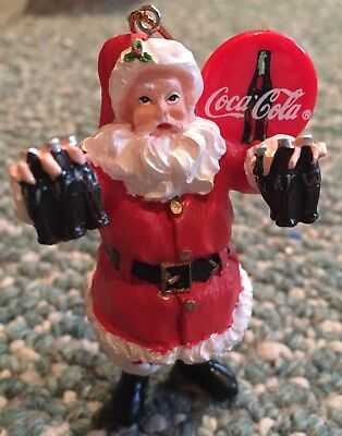 Coca-Cola Holiday Santa Claus Christmas Tree Ornament 2000 Limited Edition Coke