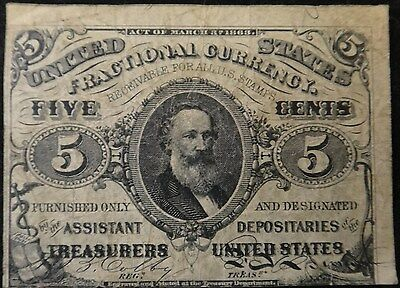 U.S. Five Cent Fractional Currency,  3rd Issue ?, FR 1238.  VF - XF Condition