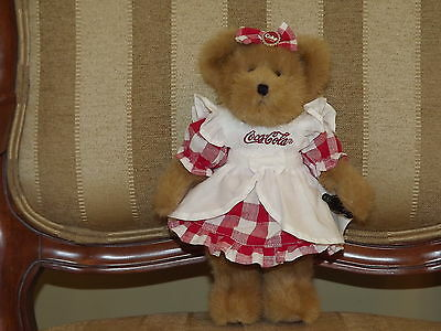 Coca Cola Boyds Plush Bear Lynette With Tags 11 in.