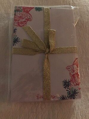 LILLY PULITZER NWT Note Card Set Tiki Pink Gypsea 175 count
