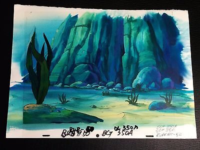 Hand Painted Production Animation Background UNDERWATER