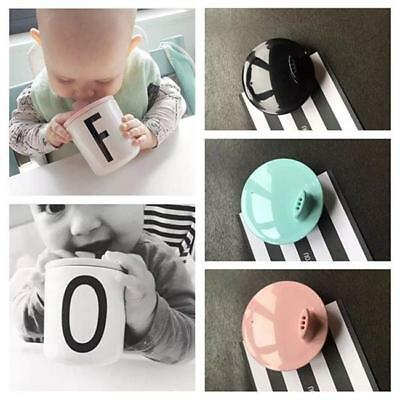 Cute 7cm Diameter Baby Kid Child Cup Cover Drink Mug Water Lid For Letter Cup Q