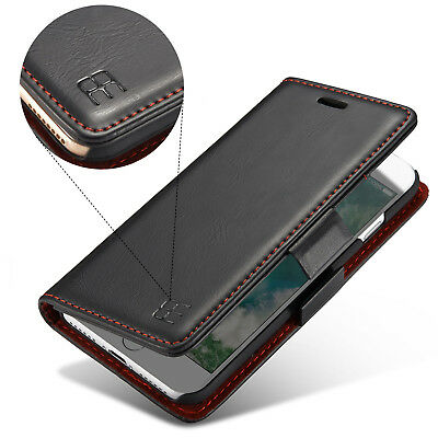 Black Leather Card Wallet Luxury Flip Stand Case Cover For Apple iPhone 6 Plus