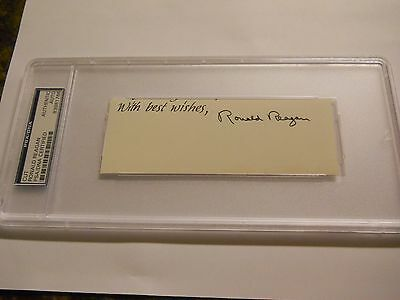 RONALD REAGAN SIGNED CUT SIGNATURE PSA/DNA AUTHENTIC AUTO 40th PRESIDENT POTUS