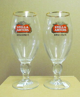 Stella Artois 40cl Star Chalice, Beer Glass- Set of 2