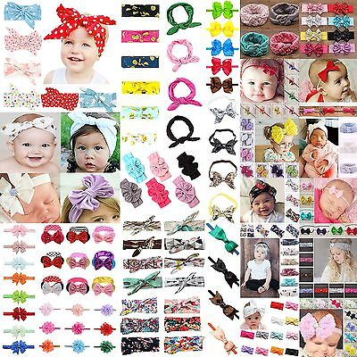 Newborn Baby Girl Kids Headband Infant Toddler Bow Hair Band Girl Accessories CH