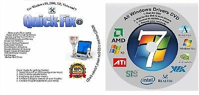 Win 8/7/XP Boot Repair Recovery Restore CD & AUTOMATIC Drivers - 2017 NEW