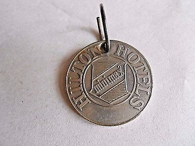 Vintage Hilton Hotels Minimax Credit Tag Charge Coin Keychain Fob