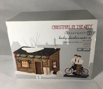 DEPT 56 CHRISTMAS IN CITY HARLEY-DAVIDSON MOTOR CO 4049191 In Box Complete Set