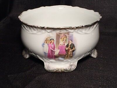 Porcelain Ferner Planter Shakespeare Scenes Characters Victoria Carlsbad Austria