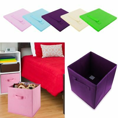 2017 Foldable Square Storage Collapsible Box Clothes Organizer Fabric Cube New