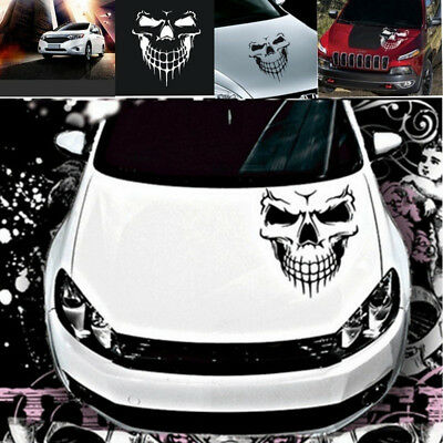 Skull Hood Tailgate Side Window Decal Car Truck Reflective Sticker Decor Latest