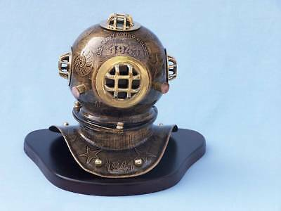 Antique Brass Seascape Diver's Helmet 11""