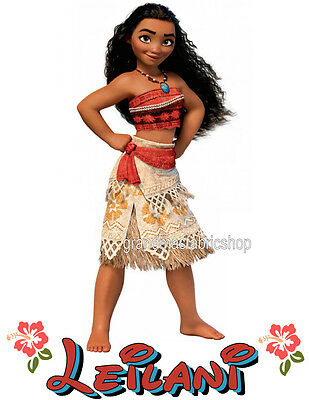 NEW Custom Personalized MOANA MAUI t shirt Birthday gift Add Name & Size