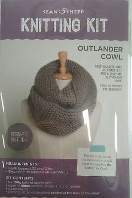 Knitting Kit beginners OUTLANDER COWL KIT   with every thing you need