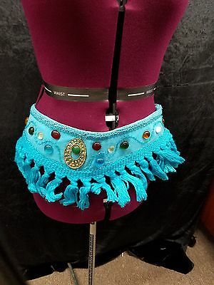 Belly Dance Tribal Belt - Turquoise
