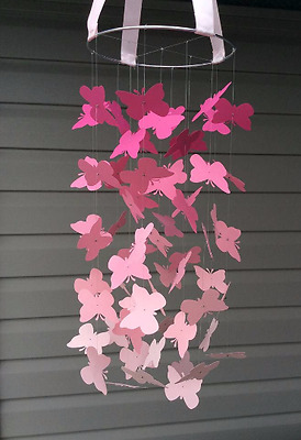 Baby / Kids Home Decor Pink Butterfly Mobile