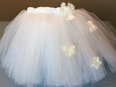 Bridal Tutu Skirt - Bridal Shower Tutu - Bacelorette Tutu - White