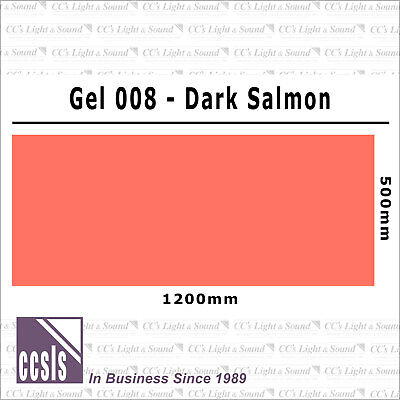 Clear Color 008 Filter Sheet - Dark Salmon