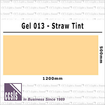 Clear Color 013 Filter Sheet - Straw Tint