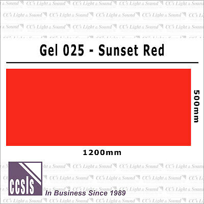 Clear Color 025 Filter Sheet - Sunset Red