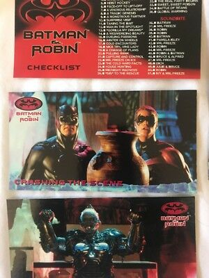 Batman And Robin Skybox 1997 Cards