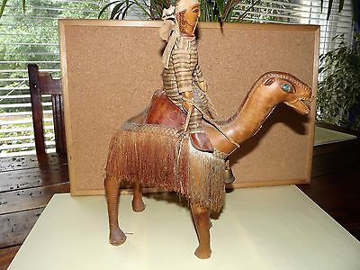 Antique Leather Camel Collectible Rare Needs TLC - PRICE DROPPED