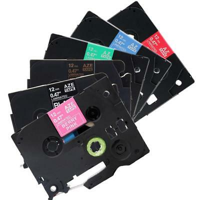 TZe-435 TZe-335 TZe-MQP35 P-Touch Label Tape Compatible for Brother 12mm 6pk