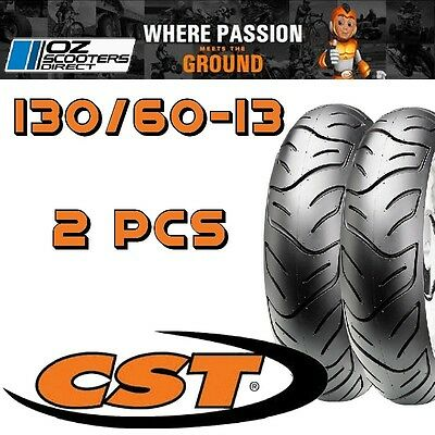 130/60-13 tyre ( 2x tyres), Suit Jiajue Outlaw SS & many more scooters.