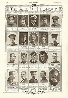 1917 Antique Print- Ww1-Roll Of Honour 4